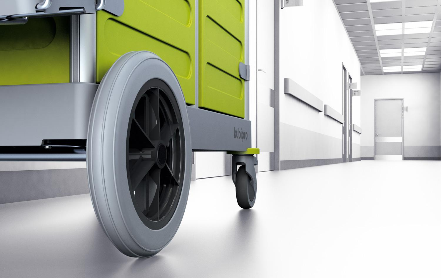 Kubi trolley for the cleaning operation in the healthcare sector