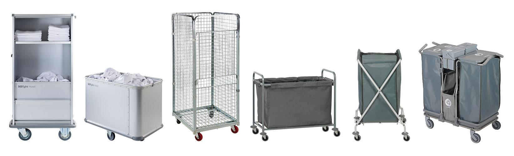 Solight laundry service trolleys